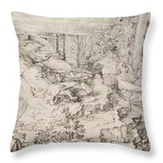 Christ On The Mount Of Olives 1521 Throw Pillow
