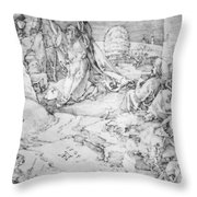 Christ On The Mount Of Olives 1524 Throw Pillow