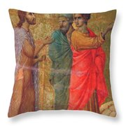 Christ On The Road To Emmaus Fragment 1311 Throw Pillow