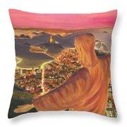 Christ Over Rio Throw Pillow