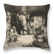 Christ Preaching (la Petite Tombe) Throw Pillow
