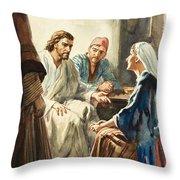 Christ Talking Throw Pillow