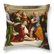 Christ Washing The Disciples' Feet Throw Pillow