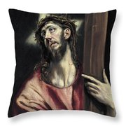 Christ With The Cross Throw Pillow