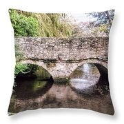 Christchurch - Bridge Over The Millstream Throw Pillow