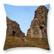 Christchurch Castle Throw Pillow