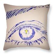 Christian Eye Throw Pillow