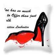 Christian Louboutin Shoes 4 Throw Pillow