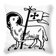 Christianity: Agnus Dei Throw Pillow