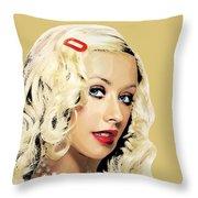 Christina Aguilera Throw Pillow