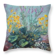 Christina's Garden Throw Pillow