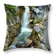 Christine Falls In The Canyon Throw Pillow