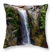 Christine Falls Mt Rainier Throw Pillow