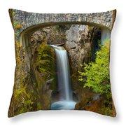 Christine Falls Through The Trees Throw Pillow