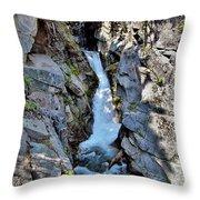 Christine Falls - Upper Part - Mount Rainier National Park 3 Throw Pillow