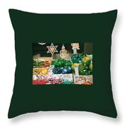 Christkindlmarkt Vienna Ornaments Throw Pillow