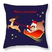 Christmas #3 And Text Throw Pillow