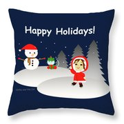 Christmas #6 And Text Throw Pillow