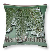Christmas Arborvitae In Ice Throw Pillow