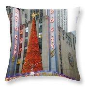Christmas At Radio City Music Hall Throw Pillow