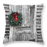 Christmas At The Farm Throw Pillow
