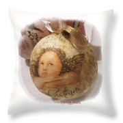 Christmas Ball , Angels Throw Pillow