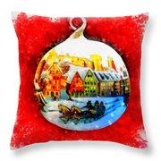 Christmas Ball Ball Throw Pillow