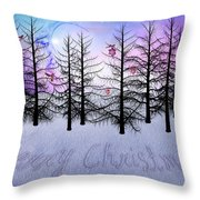 Christmas Bare Trees Throw Pillow