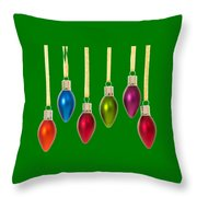 Christmas Baubles Tee Throw Pillow