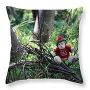 Christmas Bear Throw Pillow