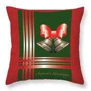 Christmas Bells 2 Throw Pillow