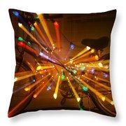 Christmas Bike Abstract Throw Pillow