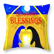 Christmas Blessings 5 Throw Pillow