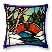 Christmas Bridge Throw Pillow