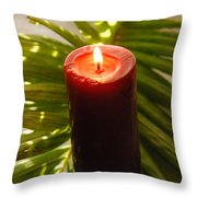 Christmas Candle 2 Throw Pillow