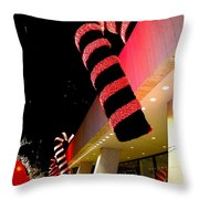 Christmas Candy Canes Throw Pillow