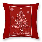Christmas Card 5 Throw Pillow