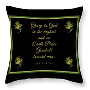 Christmas Card With Scripture - Luke 2 14 Throw Pillow