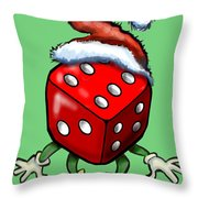 Christmas Casino Party Throw Pillow