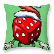 Christmas Casino Party Throw Pillow