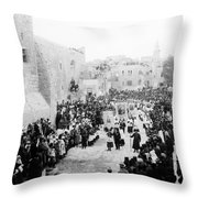 Christmas Celebration 1900s Throw Pillow