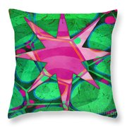 Christmas Celebration Abstract Painting Throw Pillow