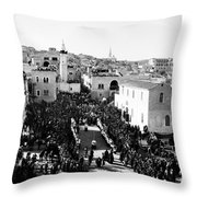 Christmas Celebration In 1901s Throw Pillow