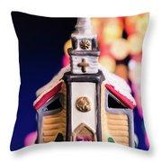 Christmas Chapel 2 Throw Pillow
