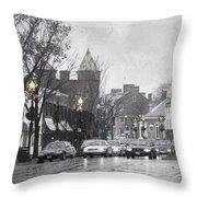 Christmas City Street Throw Pillow