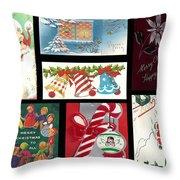 Christmas Collage  Throw Pillow