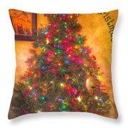 Christmas Corner Throw Pillow