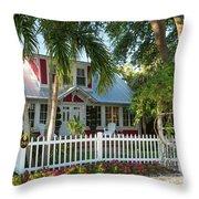 Christmas Cottage - Naples Throw Pillow