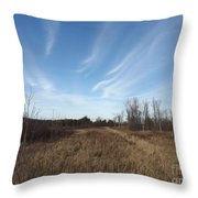 Christmas Day In The Country Throw Pillow