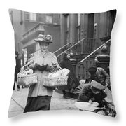 Christmas Dinner, 1908 Throw Pillow